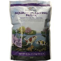 Aquatic Planting Media is made from 100% natural minerals including zeolite, a natural mineral having a honeycomb-like layered crystal structure. The zeolite acts as a reservoir for nutrients which are slowly released as needed by the plant. This planting media securely holds the plants in the pot so they can form a strong root system. Won't float and clog pumps or filters. Will not change the pH of the water. 10 lb. bag. Aquatic Planting Media by Rustica House. #myRustica