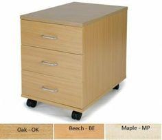 Newbury 3 Drawer Mobile Pedestal - Beech, Maple or Oak : Newbury 3 Drawer Mobile Pedestal - Beech, Maple or Oak For More Information Visit http://www.atlantisoffice.com/newbury-3-drawer-mobile-pedestal-beech-maple-or-oak-p-412.html