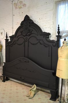 Painted Cottage Shabby French Black Romantic Bed KING Painted Cottage Shabby French Black Romantic by paintedcottages The post Painted Cottage Shabby French Black Romantic Bed KING appeared first on Upholstery Ideas. Painted Furniture, Bedroom Furniture, Diy Furniture, Furniture Online, Furniture Stores, Luxury Furniture, Furniture Removal, Furniture Assembly, Black Furniture