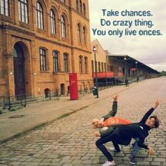 """QOTD : """"Take chances. Do crazy things. You only live onces."""" Pic : Sehun instagram"""