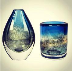 Sven Pamquist Vases for Orrefors at Nest....