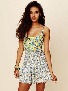 Free People English Garden Mini Dress, $128.00