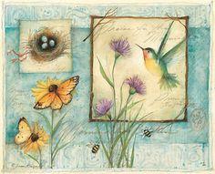Nature& Keepsakes Greeted Assortment By Susan Winget - 12 Note Cards with Full-color Interiors and Designed Envelope Vintage Birds, Vintage Images, Vintage Art, Illustrations, Illustration Art, Scrapbooking, Decoupage Paper, Art Journal Pages, Botanical Art