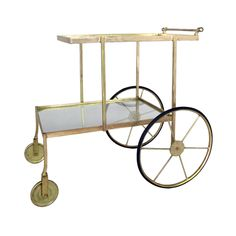 Have bar cart: will travel. That's your new motto with this zippy and classy bar cart on wheels. Stock it up with all your favorites and you'll be the most popular person at the next party.  Find the Drink Up Bar Cart, as seen in the The Glamorous Mid-Century Life Collection at http://dotandbo.com/collections/the-glamorous-mid-century-life?utm_source=pinterest&utm_medium=organic&db_sku=104181