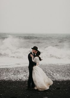 This heartfelt Iceland Elopement has swept us away   Image by  Cody & Allison Photography