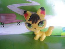 Littlest Pet Shop LPS Yellow Arctic FOX  # NO N° Green Star Eyes FOX WOLF Soft P