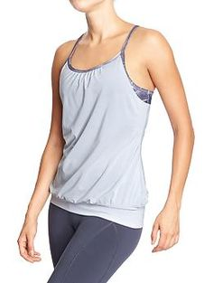 Womens Old Navy Active Built-in-Bra Tanks-These are incredible!  I have them in at least four different colors!