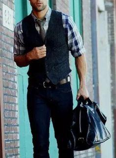 look, casual, gravata, masculino