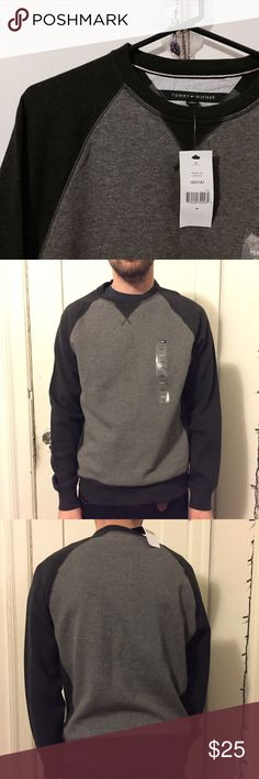 Tommy Hilfiger Sweater NWT Only worn for this picture. 90% cotton, 10% polyester. No pp/trades. Tommy Hilfiger Sweaters Crewneck
