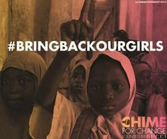 #Chimein for education and share #BringBackOurGirls to raise awareness for 230+ girls missing in Nigeria,