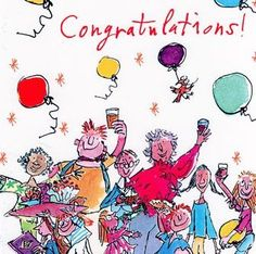 Work Anniversary Quotes, Birthday Quotes, Birthday Cards, Quentin Blake Illustrations, Holiday Cards, Christmas Cards, Vintage Illustration Art, Happy Everything, Congratulations Graduate