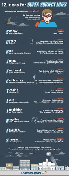 12 Ideas for Subject Lines FINAL