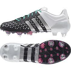 Adidas Ace 15.1 Soft Ground Football Boots Black - Available at Kitbag.com.