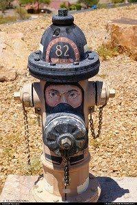 Firefighter  in the fire hydrants in my neighborhood