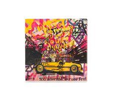 A serie of Vintage cars & graffiti Street Art by BENOIT B. / STREET URBAN GRAPHICS OIL ON CANVAS - OIL ON STEEL - @ : benoitb2001@gmail.com T : +33 686.772.838 GUNS / BANG BANG /