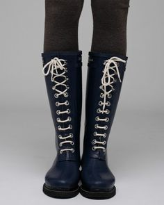cd3bed5e8d768 ilse jacobsen lace-up rain boot