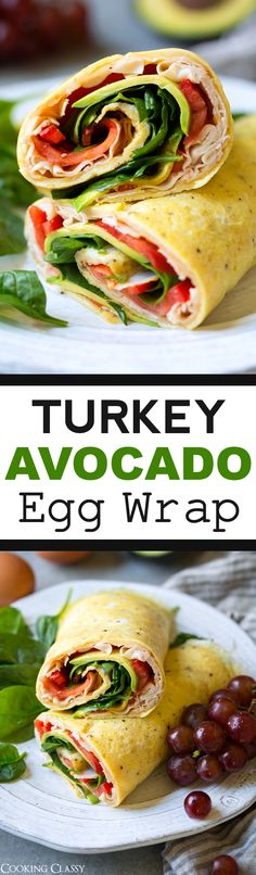 Turkey Avocado Egg Wraps - Cooking Classy