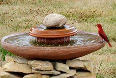 Garden / DIY Homemade Bird Bath - CotCozy