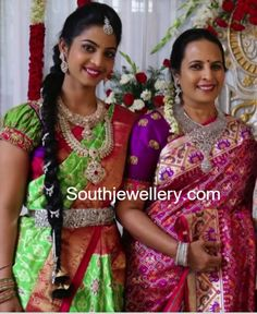 Rajiv Reddy's Mother in a Diamond Necklace Set