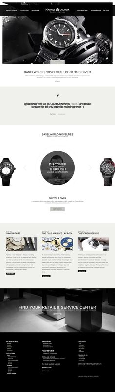 watch webdesign Concept Web, Watch Ad, Interface Design, Web Design Inspiration, Cool Websites, Fashion Watches, Swiss Watch, Graphic Design, Ui Ux