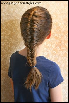Girly Do Hairstyles: By Jenn: Finally a Fishtail Braid that DOESN'T Sag