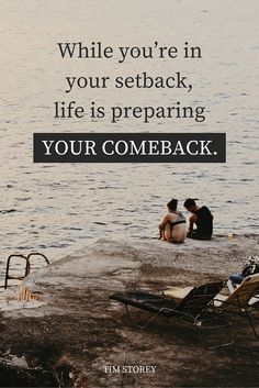 """""""While you're in your setback, life is preparing your comeback."""" - Tim Storey on the School of Greatness podcast Great Quotes, Quotes To Live By, Inspirational Quotes, Motivational, Book Quotes, Life Quotes, Get Well Messages, Phrase Of The Day, Insightful Quotes"""