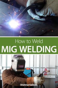 How to Weld – MIG Welding This is a basic guide on how to weld using a metal inert gas (MIG) welder. MIG welding is the process of using electricity to melt and join pieces of metal together. Mig Welding Tips, Welding Works, Welding Gear, Welding Crafts, Diy Welding, Metal Welding, Cool Welding Projects, Welding Shop, Welding Table