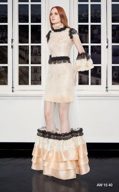 CHRISTOS COSTARELLOS AW 15-16 Christos Costarellos, Fall Winter 2015, Lace Skirt, Ready To Wear, Skirts, Designers, How To Wear, Fashion, Moda