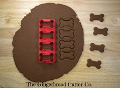 Dog Bone Mini Cookie Cutter Stick by GingerbreadCutterCo on Etsy