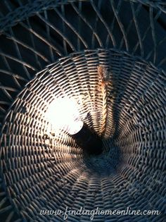 vintage wicker chandelier