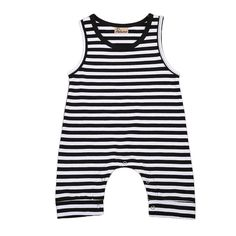 >> Click to Buy << One-Pieces Sleeveless O-Neck Summer Infant Baby Boys Striped Romper Outfit Sunsuit 0-24M Clothes Playsuit #Affiliate