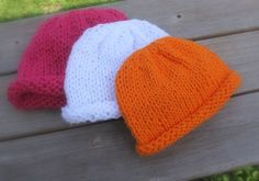 Simple Seamless Baby Hats