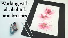 Alcohol Ink Crafts, Alcohol Ink Painting, Alcohol Ink Art, Watercolor Techniques, Acrylic Pouring, Mixed Media Art, Brushes, Watercolor Art, Art Projects