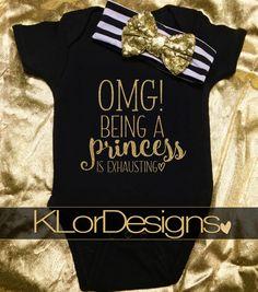 Princess onesie, Baby Girl onesie, funny baby onesie, newborn onesie outfit, Baby Shower Gift, princess baby girls clothing