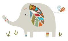 Lilipinso Wandtattoo Set 'Indianer Elefant' grau/bunt 90cm bei Fantasyroom online kaufen