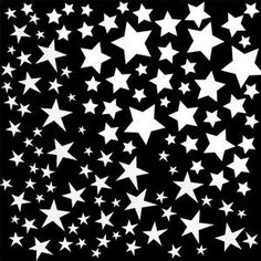 Star White Enamel Decals