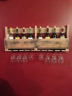 Pallet wijn Rack van RusticClutterDesigns op Etsy