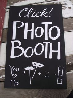 DIY photo booth sign inspiration