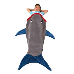 Kids Shark Blanket by Blankie Tails® -  Assorted Colors - Blankie Tails - 1