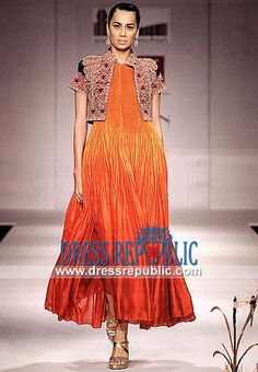 Sunset n Poppy Party Dress Designer Samant Chauhan Collection 2014