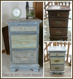 Hometalk :: How to Use Chalkpaint on an Old Laminated Nightstand Wipe down with a TSP product such as Krud Kutter before painting