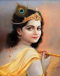 Krishna Lila, Baby Krishna, Krishna Radha, Lord Krishna, Good Night Flowers, Vedic Mantras, Indian Art, Mythology, Wonder Woman