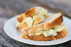 Chicken-Egg Salad recipe - Recipe and photo by blogger, Crissy Page @Crissy {dearcrissy.com} {dearcrissy.com} {dearcrissy.com}
