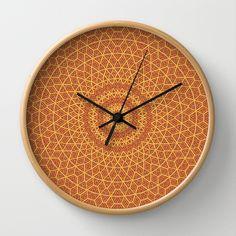 Spellbound Wall Clock by Lyle Hatch | Society6.com #clock #wallclock #society6 #mandala #kaleidoscope #symmetry #harmony #zen #time