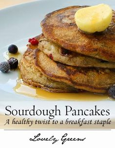 Sourdough pancakes are tangy, sweet, and a delicious twist to a Sunday morning staple #breakfast