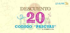 """¡Promo web! Este finde largo tenés un 20% off en toda tu compra en http://www.luzdemar.com.ar con el código """"PASCUAS"""" pic.twitter.com/9Uwex2Ta1o"""