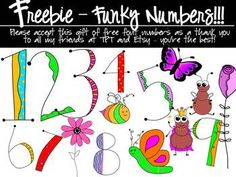 FREEBIE - Number fonts