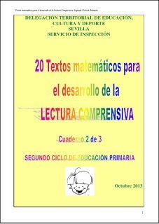Textos matemáticos para desarrollar la lecura comprensiva segundo ciclo