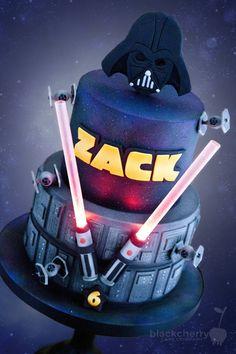 Star Wars Darth Vader Cake - Cake by Little Cherry - CakesDecor