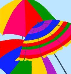 Beach Umbrellas by Dawn Wood